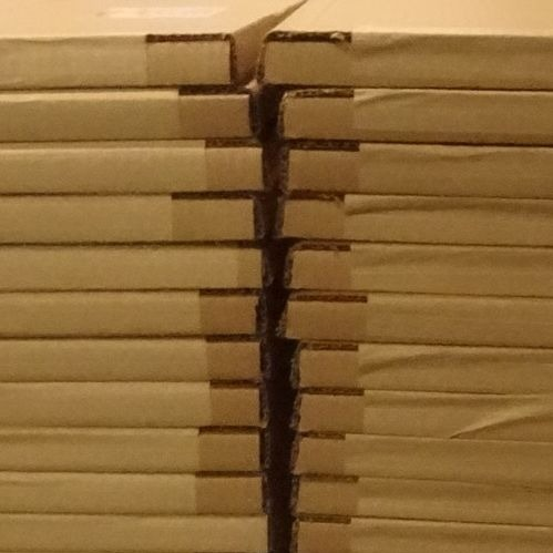 cardboard packages ready for shipping