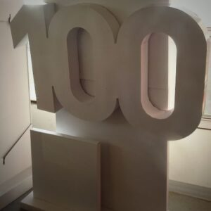100 year centennial floor display