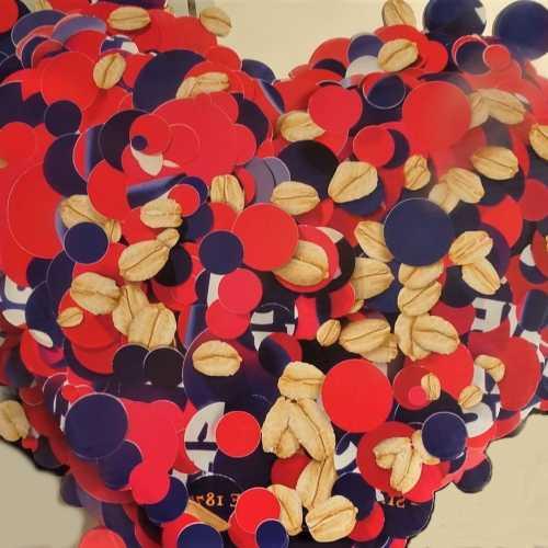 quaker heart diecut design